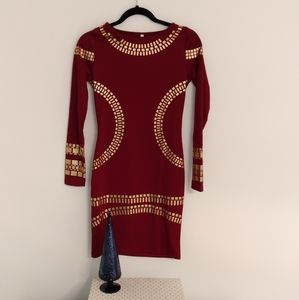 Party dress size small.  Sweater style dress. 33""